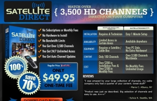Watch Live TV with SatelliteDirect™ Software, it's as Easy as 1, 2, 3!