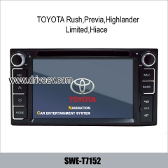 Car DVD navi TV for TOYOTA Rush Previa Highlander Limited Hiace SWE-T7152