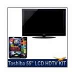 Toshiba 55  1080p LED HDTV w/ Net TV + High-performance HDTV Hook-up & Maintenance Kit