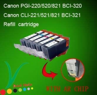 Refilled ink cartridge with ARC for latest canon pirnter