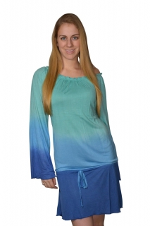 Tie Dye Cover-Up with Draw String Waist