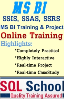 Complete Realtime Online Training on MSBI SSIS, SSAS, SSRS at SQL School