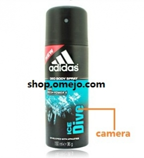 Hidden Adidas Men Body Fragrance Spray Bottle Bathroom Spy Camera DVR Support SD card capacity up to 32GBRemote Control On/Off And Motion Detection Record