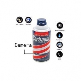 Motion Activated Shaving Cream Hidden Remote Control Bathroom Spy Camera DVR HD 1280*720 8GB