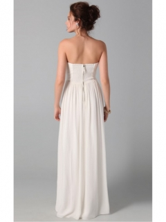 Amazing White Sheath Floor-length Strapless Dress