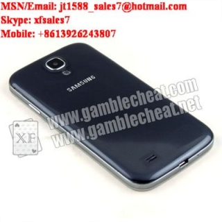 XF New Brand Samsung Galaxy S4 mobile phone camera which distance is 22-44cm/poker analyzer/poker cheat/contact lens/infrared lens/poker scanner/marked cards/invisible ink/gamble cheat/electronic dices/baccarat cheat|baccarat shoe|baccarat poker shoe