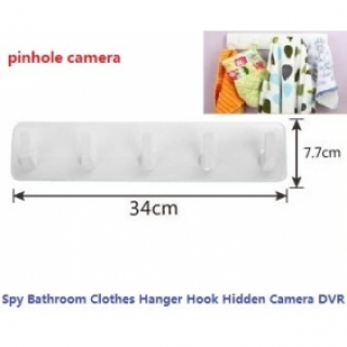 Multifunctional Bathroom Clothes Hanger Hook Hidden Camera 32GB Remote Control And Motion Detection