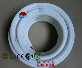 25m insulated copper pipe, 9mm IXPE insulation