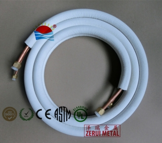 3m insulated pair coiled copper tube