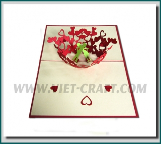 Love and valentine 3D card