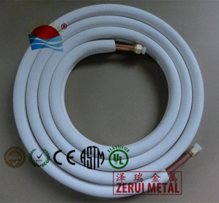 5m insulated copper coil with flaring and nuts