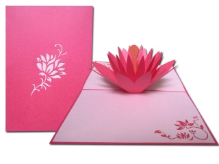LOTUS FLOWERS 1 GREETING CARD