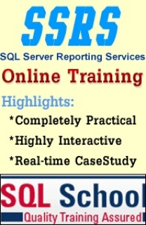 SSRS ONLINE TRAINING at SQL SCHOOL WITH CASE STUDIES