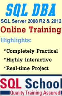 PRACTICAL SQL 2008 DBA ONLINE TRAINING