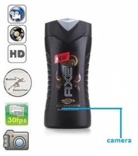 1080P HD Axe Shampoo Bottle Camera Remote Control On/Off And Motion Detection Record 32GB