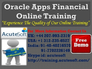 Oracle Apps Financial Training | Oracle Apps Financial Online Training