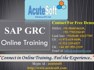 Top SAP GRC Online Training | SAP GRC Online Training