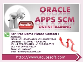 Oracle Apps SCM Online Course | Oracle Apps SCM Online Training
