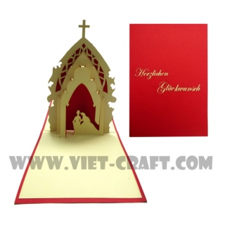 WEDDING POPUP 3D GREETING CARD