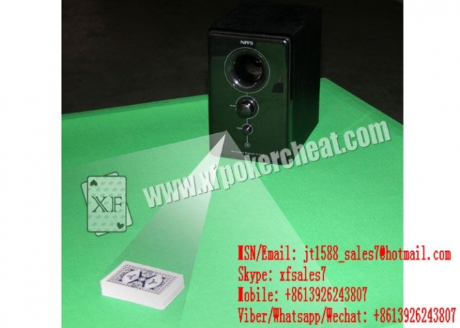 XF Plastic Black Music Box Camera For Bar-Codes Edge Marked Playing Cards  Audio Camera  Hi-Fi Camera