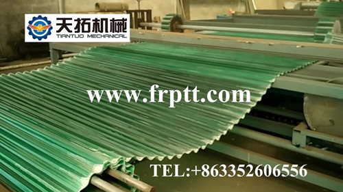 FRP transversal corrugated sheet production line