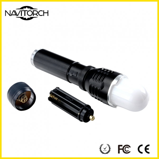 Zoomable Focus and Waterproof Aluminum LED Flashlight NK-1868