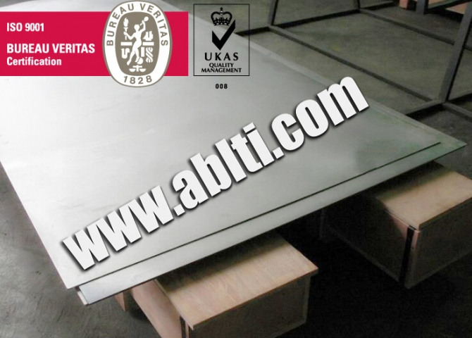 Titanium plate inventory in China