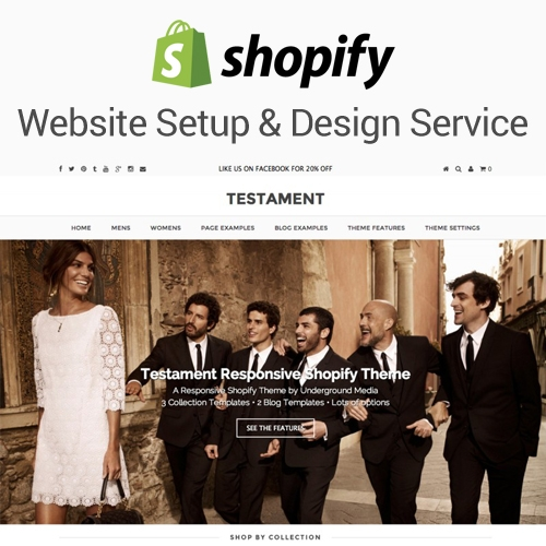Shopify Website Setup  Design Service