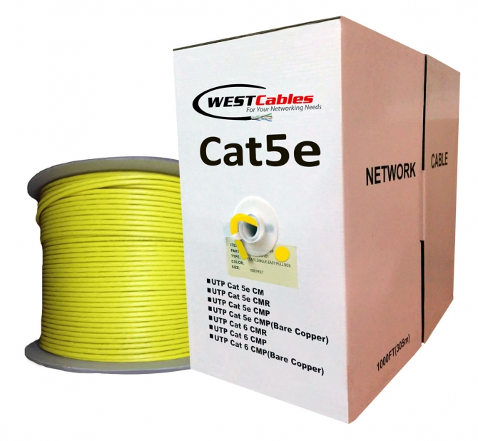 1000 FT Cat5e plenum CMP UTP Ethernet networking cable