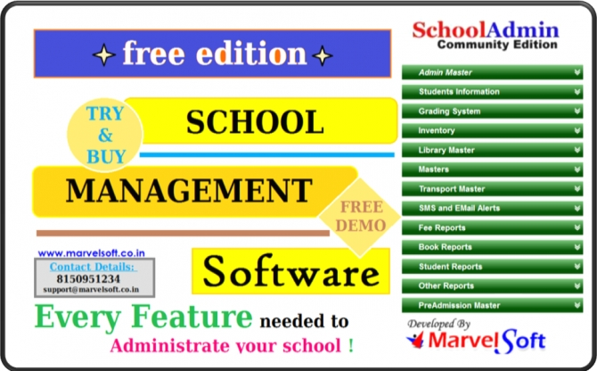 Free SchoolAdmin Software