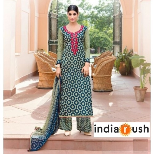 Grab Upto 35% off On Palazzo Salwar Suits from Fashion Store 'IndiaRush'
