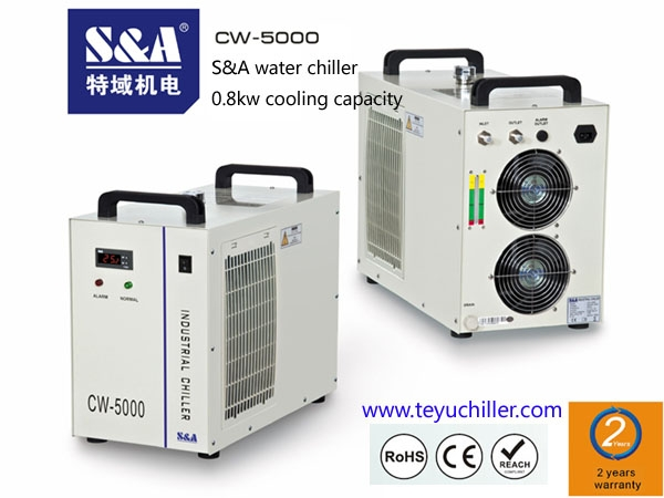 SA compact laser chiller for visual orientation tour edge laser cutting machine