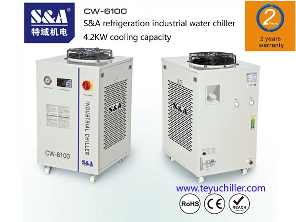 SA water chiller for laser machines and CNC milling machines