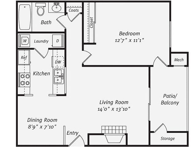 Dublin Great Location 1 Bedroom Apartment Dublin For Rent Bakersfield Real Estate Apartments