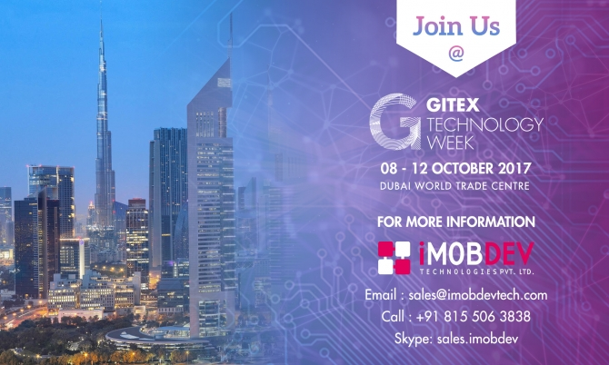 Meet iMOBDEV at Gitex Technology Week 2017, Dubai, UAE