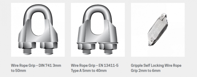 Get the best Wire Rope Grips online provided by Bishop Lifting