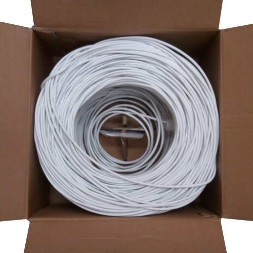 Cat6 Plenum Rated 1000ft UTP Cable 23Awg Solid 550Mhz White