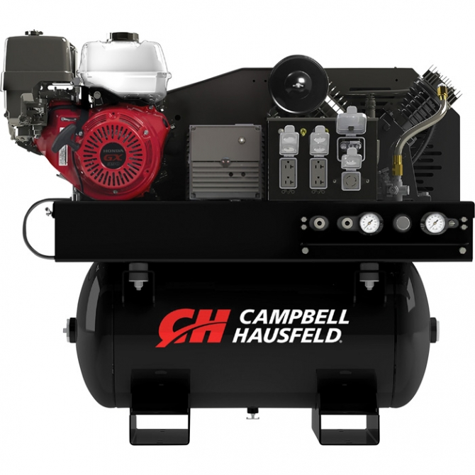CAMPBELL HAUSFELD 2-IN-1 AIR COMPRESSORGENERATOR WITH HONDA ENGINE
