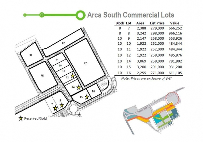 Arca South Commercial Lot
