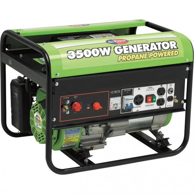 ALL POWER AMERICA PORTABLE PROPANE GENERATOR 3500 SURGE WATTS 2800 RATED WATTS