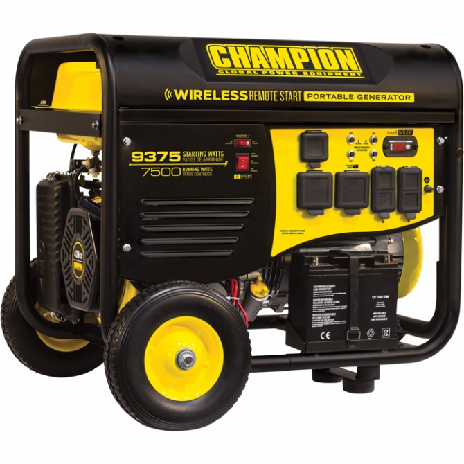CHAMPION POWER EQUIPMENT PORTABLE GENERATOR  9375 SURGE WATTS 7500 RATED WATTS REMOTE ELECTRIC START