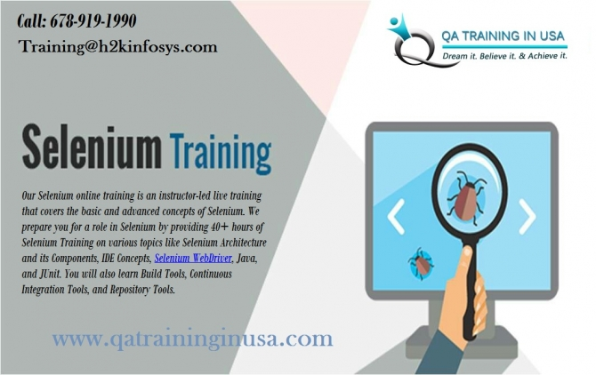 Selenium Online Training in USA with Job Support