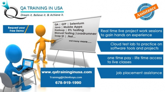 Quality Assurance Online Training in USA with live projects