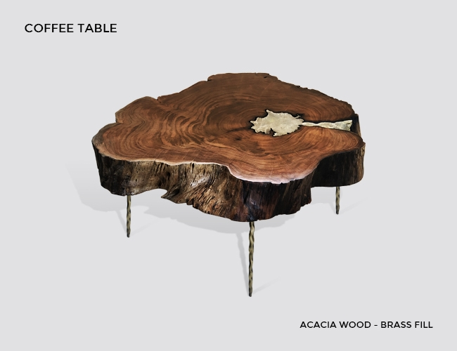 molten wood coffee tables