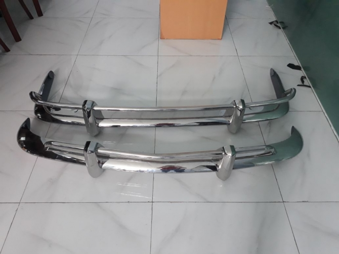 VW Karmann Ghia US style stainless steel bumpers