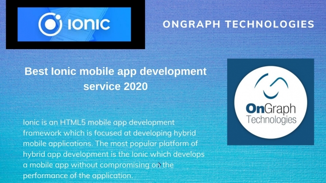 Best Ionic mobile app development service 2020
