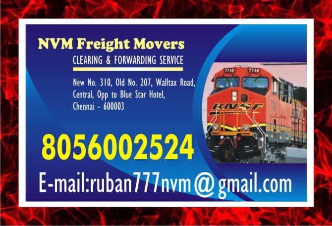 NVM Freight Movers to door step service | Rly. Clearing  Forwarding Service | 1057 |