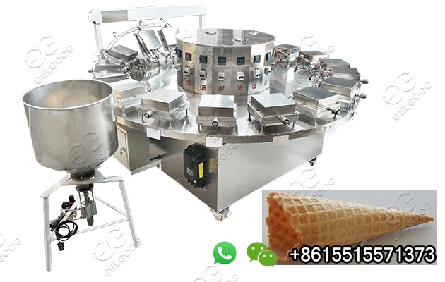 Automatic Rolled Sugar Cone Making Machine In China