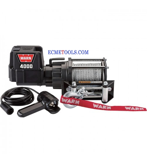 WARN 12 Volt DC Powered Electric Utility Winch_4000Lb Capacity_Galvanized Steel Wire