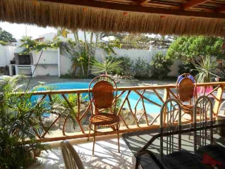 Pool home with 2 rental units for sale in Manta.
